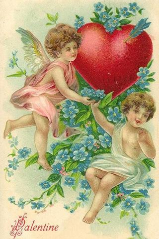victorian-valentines-cards-two-cherubs-blue-flowers-heart