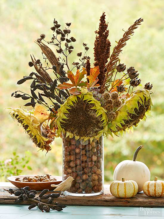 Seedpod centerpiece